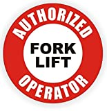 "1-PC Matchless Popular Authorized Fork Lift Operator Vinyl Sticker Emergency Decal Weatherproof Safety Helmet Size 2"" Color Red Black White"
