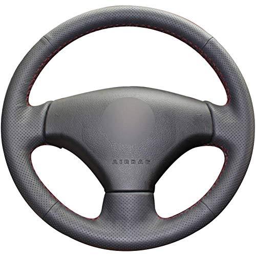 MWPO Peugeot 207 Citroen C20 Black leatherette steering wheel cover for Peugeot 206: