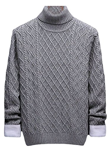amp;S Neck Sweater Knitting Pullovers Turtle amp;W 4 Men's Fashion Sleeve Long M YASqcd