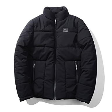 HARERSI Mens Jackets and Coats Thick Warm Parka Outwear H20 Black XS