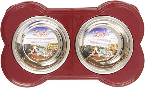 Loving Pets Dolce Diner Dog Bowl, Small, 1 Pint, Merlot