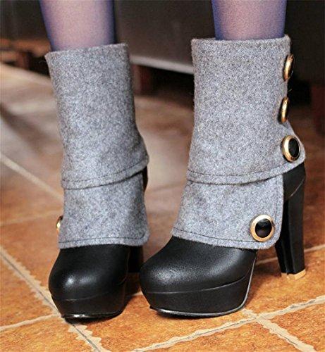 HETAO Talons de personnalité Bottes Femmes Chaussures Talons Hauts Chaussures Talons Talons Tempérament Chaussures Élégantes black bjNQM6yY