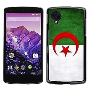 Shell-Star ( National Flag Series-Algeri ) Snap On Hard Protective Case For LG Google NEXUS 5 / E980