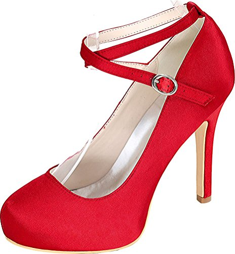 Find Femme Nice Red Rouge 5 36 Sandales Plateforme wr8Ar1