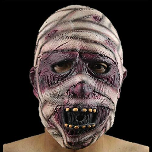 DICPOLIA Decoration Scary Halloween Mask Terror Ghost Devil Mask Dance Party Scary Biochemical Alien Zombie Caps Mask Novelty (As Shown)