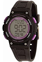 Timex Women's Marathon TW5K847009J Indiglo Black/Purple Digital Sport Watch