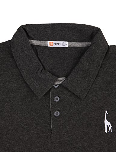 869af7769 H2H Mens Natural Solid Giraffe Polo Shirts with Giraffe embroidery ...