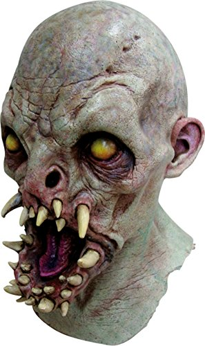 Fangs Zombie Scary Monster Latex Adult Halloween Costume Mask (Hockey Mask Halloween Costume)