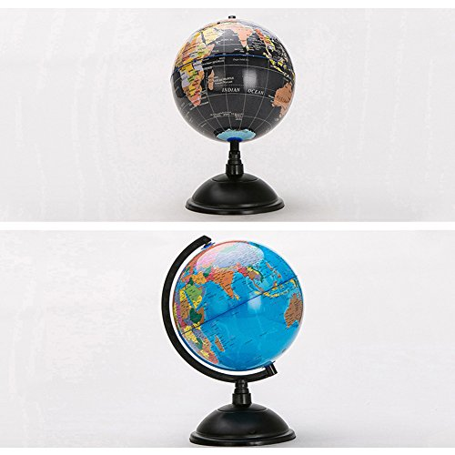 HaloVa World Globe, Desktop 8 inch Spinning Globe with Stand for Kids Students Teachers Geographic Scout Bedroom Decor Educational Gift, Black by HaloVa (Image #6)
