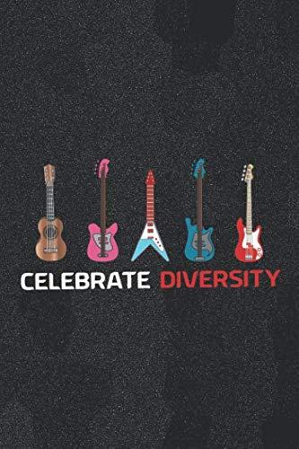 Celebrate Diversity: Blank Lined Notebook ( Guitar ) Noise