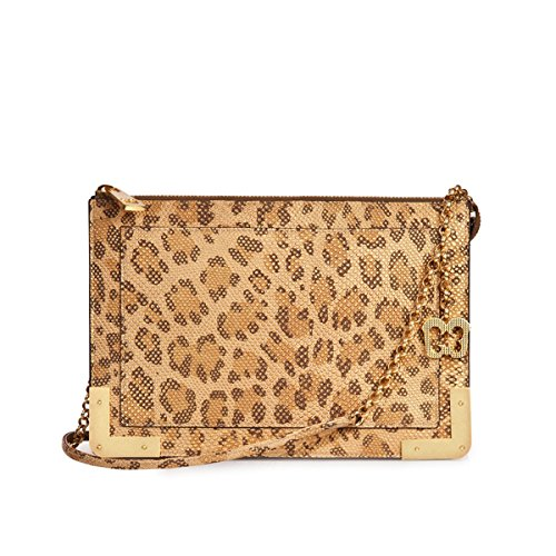 Eric Javits Luxury Fashion Designer Women's Handbag - Perkins II - Leopard by Eric Javits