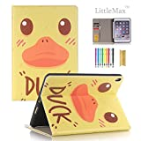 LittleMax iPad Pro 10.5 Case with Pencil Holder, Slim Fit Folio Flip Kickstand Protective Case Auto Wake/Sleep Function Cover for Apple iPad Pro 10.5 Inches -# Duck