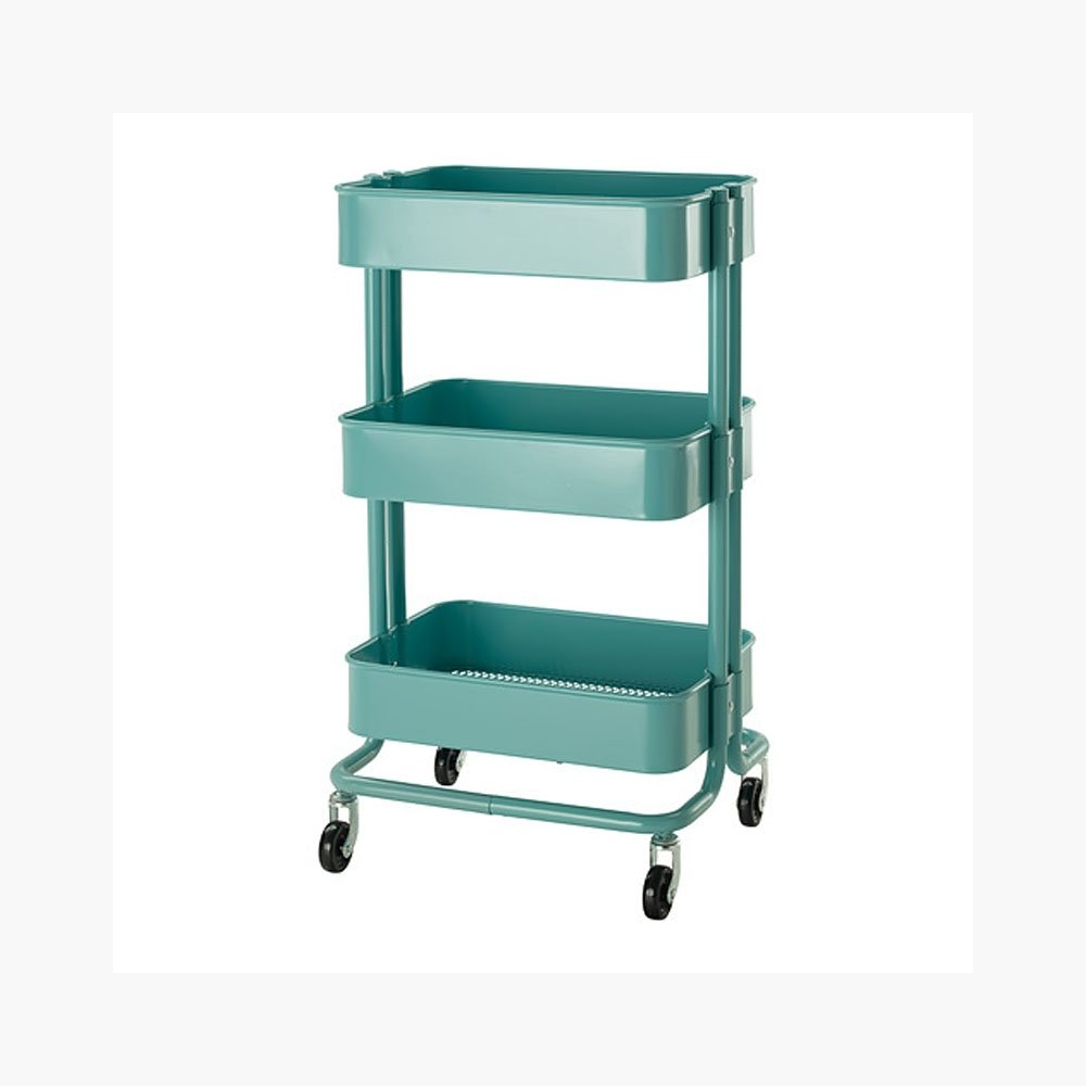 Amazon.com: Rolling Organization Cart on Wheels Is Metal with 3 Deep ...
