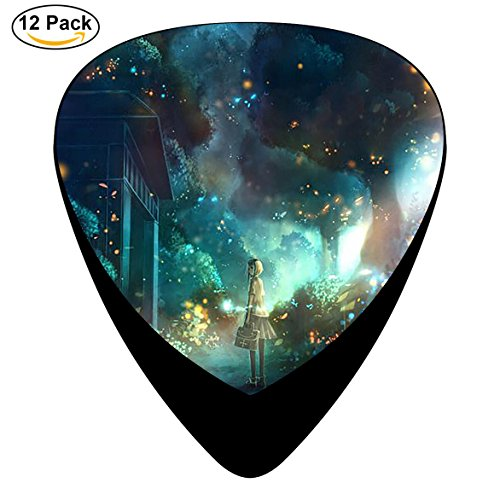 STREMUSIC Forest of Fireflies Celluloid Electric Guitar Picks 12-pack Plectrums For Bass Music Tool