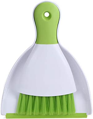 Dust Pan and Brush, Kmeivol Broom and Dustpan, Dust Pan Brush Nesting Tiny Cleaning Broom, Dust Pan and Brush Set for Table, Desk, Countertop, Key Board, Cat, Dog and Other Pets, Dustpan