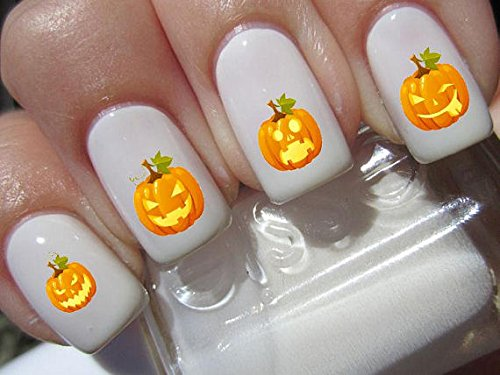 Halloween Nail Decals graveyard gothic nail art design set assorted Assorted Pumpkin faces Buy one get one free of our choice N162
