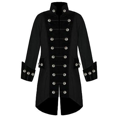 Dihope Homme Rétro Blazer Queue-de-pie Veste de Costume Jacket Outwear Coat  Manteau Mariage Prom Party  Amazon.fr  Vêtements et accessoires e97cf611ed8