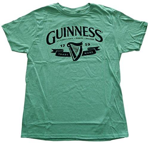 st-patricks-day-guinness-logo-mens-green-t-shirt-x-large
