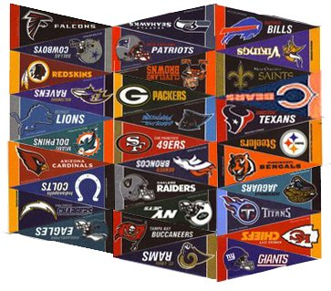 Flag Football Teams (NFL Football Mini Pennants Collector Set)