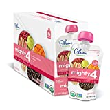 Baby : Plum Organics Mighty 4, Organic Toddler Food, Guava, Pomegranate, Black Bean, Carrot and Oat, 4.0 ounce (Pack of 12)