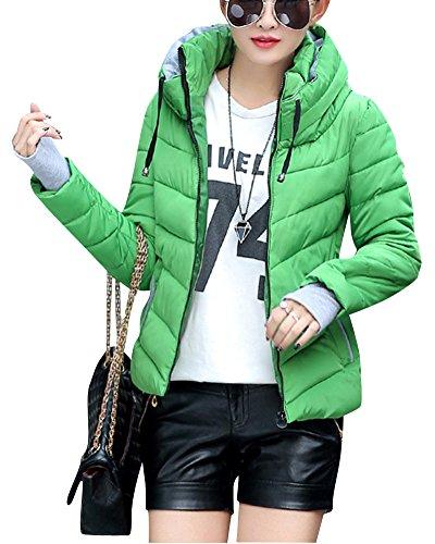 Grass Portable Blouson Duvet Hood Doudoune Manteaux Manteau en Femme Parka Courte avec ZongSen Vert zpW7S7