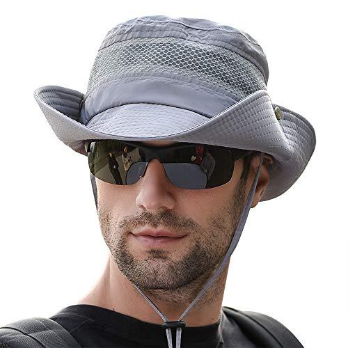 Fishing Sun Boonie Hat Wide Brim Outdoor Hiking Safari Summer Hunting Hat UV Protection Sun Cap