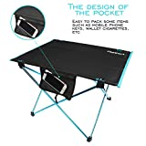 Foldable Camping Picnic Tables - Fbsport Portable Compact Lightweight Folding Roll-up Table in a Bag ¨C Small, Light, and Easy to Carry for Camp, Beach, Outdoor