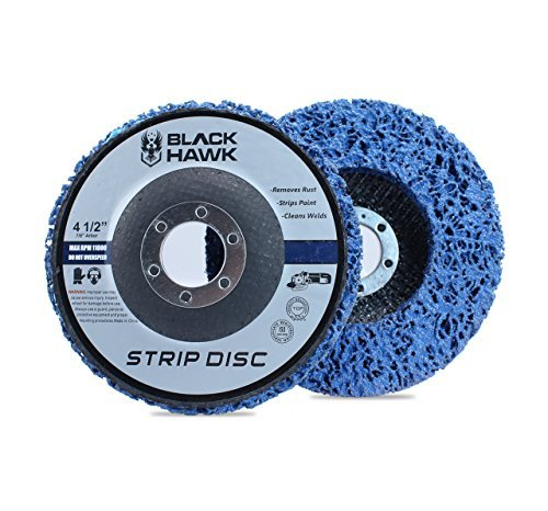 """5 Pack - 4-1/2"""" x 7/8"""" Black Hawk Easy Strip Discs Clean & Remove Paint, Rust and Oxidation"""