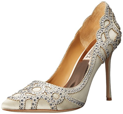 Badgley Mischka Women's Rouge Dress Pump, Ivory, 6 M US from Badgley Mischka