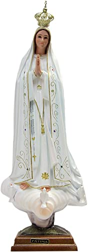Our Lady of Fatima Statue Religious Figurine Virgin Mary Madonna Made in Portugal 23.5 – 60 cm 1036