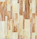 Bedrosians GLSRETBUBLMP ''Retrospect'' Mosaic with Linear Pattern, 12'' x 13'', Butterscotch Blend