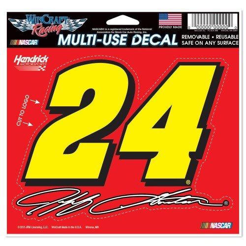 Wincraft NASCAR Jeff Gordon WCR01294715 Multi-Use Decal, 4.5