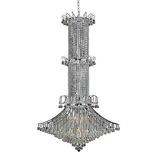 - Elegant Lighting 8008G44C/RC Royal Cut Clear Crystal Toureg 20-Light, Three-Tier Crystal Chandelier, 44