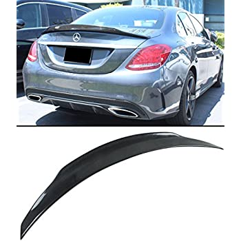Fandixin W205 Spoiler R Style Carbon Fiber Rear Trunk Deck Lip Boot Spoiler Wing for Mercedes-Benz C Class W205 C205 2-Door Coupe