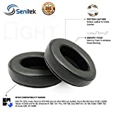 Replacement Ear Pads For Headphones By Senitek Protein Leather Earphone Covers - Memory Foam For Unmatched Comfort & Noise Blocking - Headset Cushions - 8 compatible models - Leather