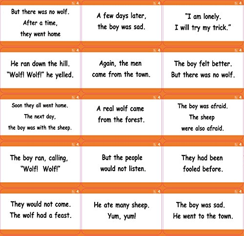 Long Vowel Phonics, Aesop Story Sentences - 291 X-Large Early Learning Sentence Reading Flash Cards - 1st and 2nd grade - Little Champion Reader Level 3 Sentence Reading - My Nectar Card