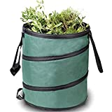 DYHQQ 25Gallon Garden Bag,Reusable Gardening Lawn And Leaf Bags - Collapsible Canvas Portable Yard Waste Bag With Drawstring Top