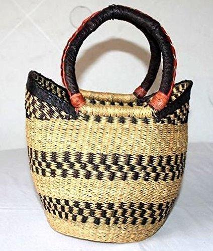 Africa Art Decoration–Mezzo medio borsa in paglia intrecciata Tendence 7323-l2C-2403
