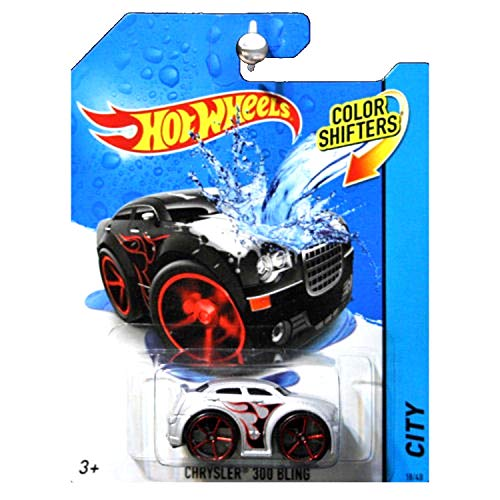 Hot Wheels 2014 HW City Color Shifters Chrysler 300 Bling Silver and Black -