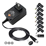 universal ac adapter 9v - Belker 24W Universal 3V 4.5V 5V 6V 7.5V 9V 12V Multi Voltage AC DC Adapter Switching Replacement Power Supply for Household Electronics Routers Speakers LCD CCTV Cameras Max. 2A 2000mA