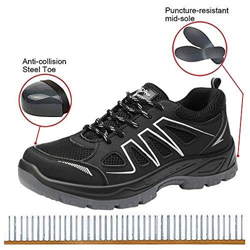 Scarpe Uomo Trekking Acciaio Da Sneaker Sportive Lavoro Estive Antinfortunistica Scarpa Black Ginnastica SSxBTw
