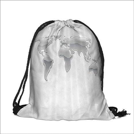 World Map Gift Bags.Amazon Com Printing Drawstring Gift Bag World Map Made With Liquid