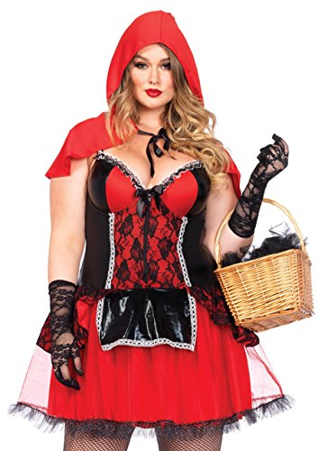 Leg Avenue Women's Plus Size Curvy Riding Hood Costume