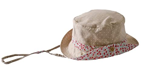 cf327b11c8c10 Amazon.com  La Vogue Baby Girl Floral Bucket Hat With Chin Strap Fisherman  Cap  Clothing