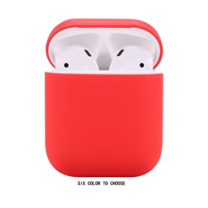 18f722cf680 Amazon.com: Airpods Case/Airpods 2 Case,Teyomi Protective Silicone Cover  Skin with Sport Strap for Apple Airpods Charging Case[Front LED Not  Visible] (Red): ...