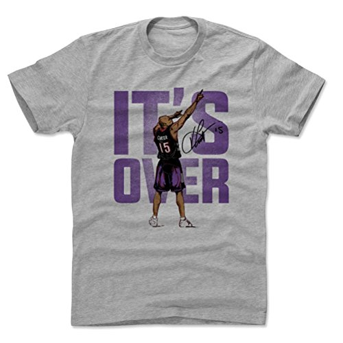 Basketball Carter Vince (500 LEVEL Vince Carter Cotton Shirt Large Heather Gray - Vintage Toronto Basketball Men's Apparel - Vince Carter Point P)