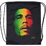 Bob Marley Rface Drawstring Backpack Black