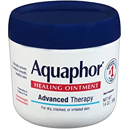 Aquaphor Healing Ointment – Moisturizing Skin Protectant for Dry Cracked Hands, Heels and Elbows, 14 oz. Jar
