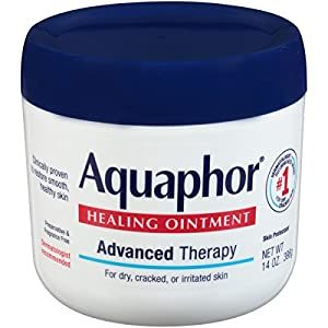Aquaphor Healing Ointment – Moisturizing Skin Protectant for Dry Cracked Hands, Heels and Elbows, Use After Hand Washing – 14 oz. Jar – 2 Pack