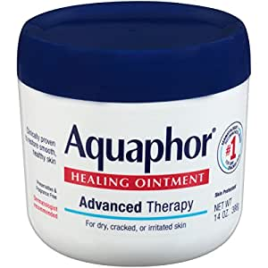 Aquaphor Healing Ointment - Moisturizing Skin Protectant for Dry Cracked Hands, Heels and Elbows, Use After Hand Washing - 14 Oz. Jar